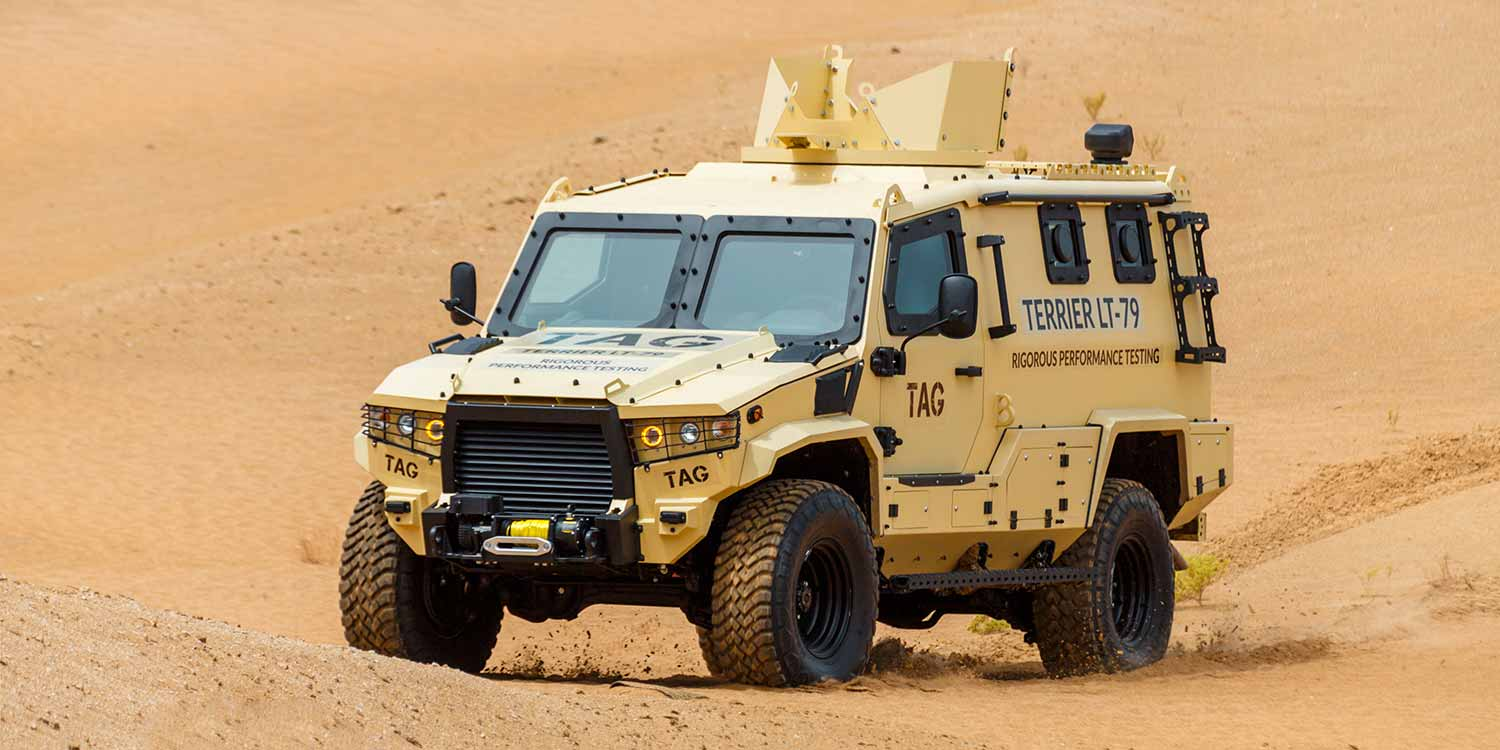 Terrier Armored Military Vehicle